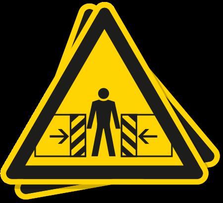Sticker Beknellingsgevaar