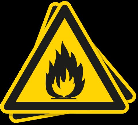 Sticker Brandgevaarlijke Stoffen