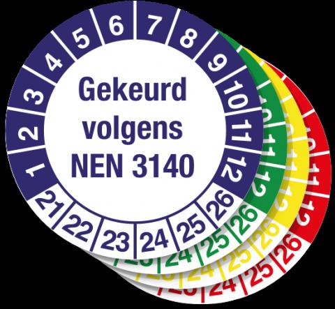 keuringssticker gekeurd volgens NEN 3140