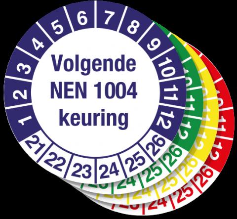 Keuringssticker Volgende NEN 1004 Keuring