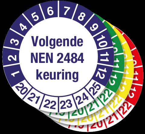 keuringssticker volgende NEN 2484 keuring