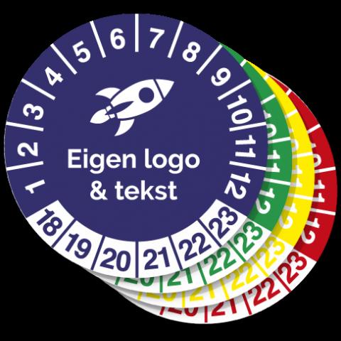 Keuringssticker eigen logo bestellen 2