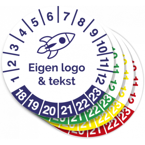 Keuringssticker eigen logo bestellen 3